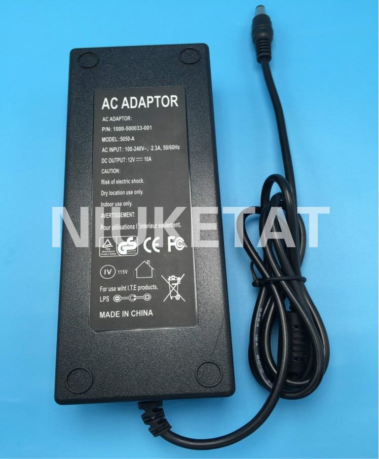 POTENCIA DE CC 12V 10A AC 100 V-240 V 12V10A tira de LED adaptador de alimentación de Adaptador de fuente de alimentación LED conducir para tira LED RGB 5050 2835 12V 10A
