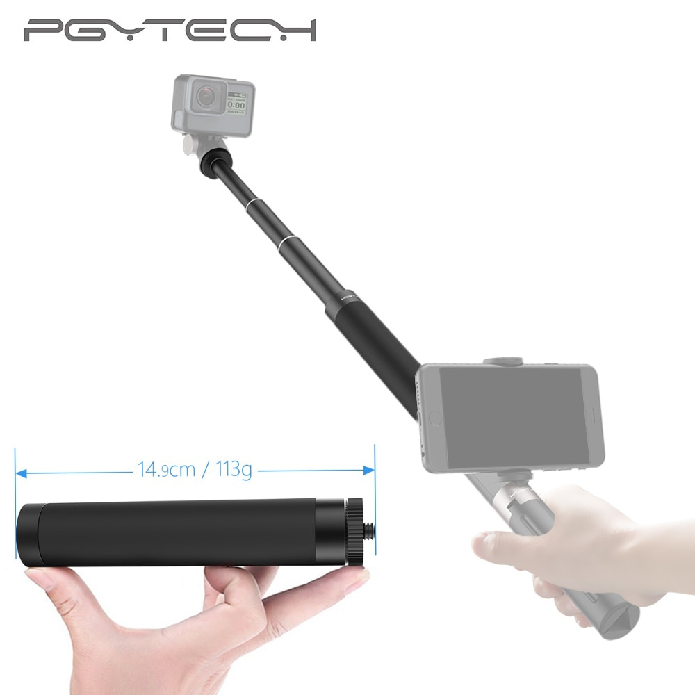 PGYTECH, trípode de mano, poste de extensión para Gopro Hero 6 5 4/Yi, accesorios para cámara, varilla para Osmo mobile 2