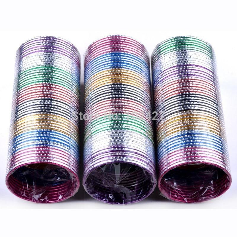 Wholesale Mix Lots 50Pcs Fashion Jewelry Indian Dance Bangle Pulseira Aluminum Bracelets for Women Men Bulks