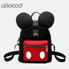 Aliwood femmes Mickey petit sac à dos cartable mignon Minnie Mini sac à dos enfant pour adolescente sac à dos Mochila Feminina