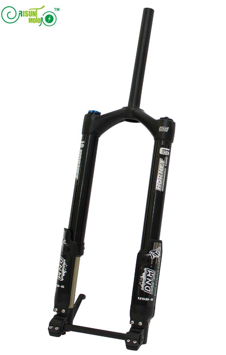 Horquilla delantera RisunMotor para bicicleta eléctrica, USD-6 DNM, suspensión neumática, piezas electrónicas europeas