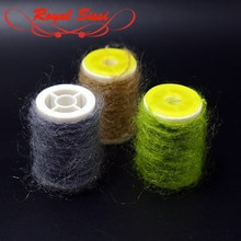 Royal Sissi 10 couleurs en option leech mohair fil longue angora cheveux torsadés mouche attachant caddis poilu nymphe corps attachant matériaux