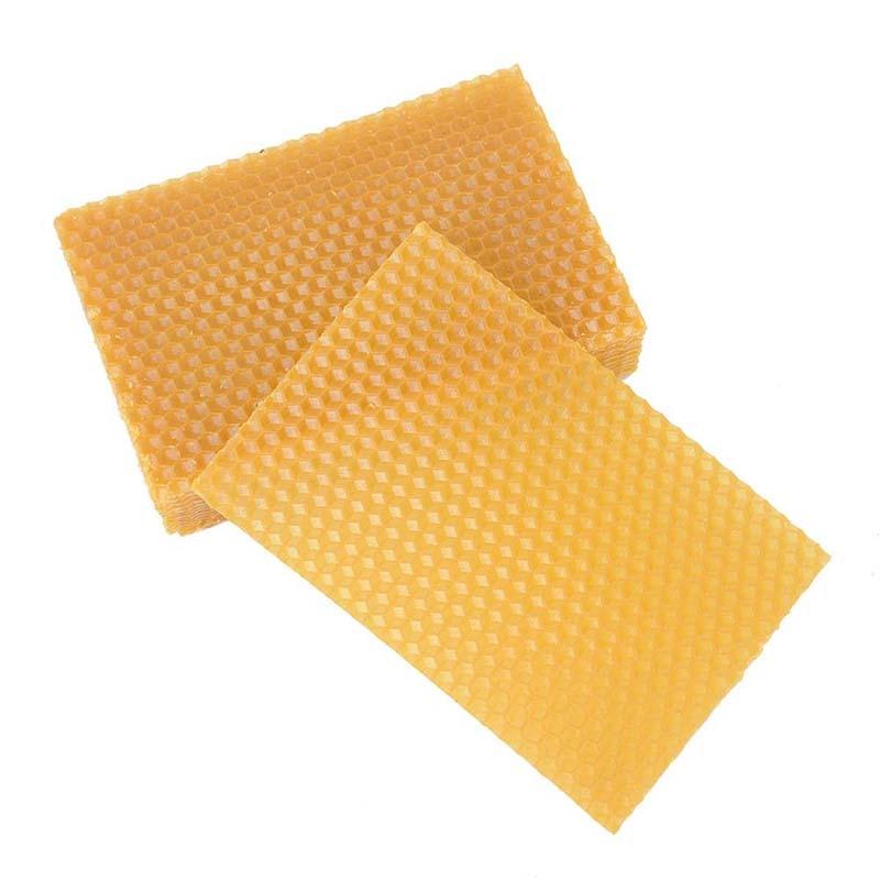 """10 Uds. 13,3x9 cm/5,24 """"x 3,54"""" Abeja De Oro Material panal herramienta de apicultura nido de abeja colmena 75% tabletas de cera de abejas"""