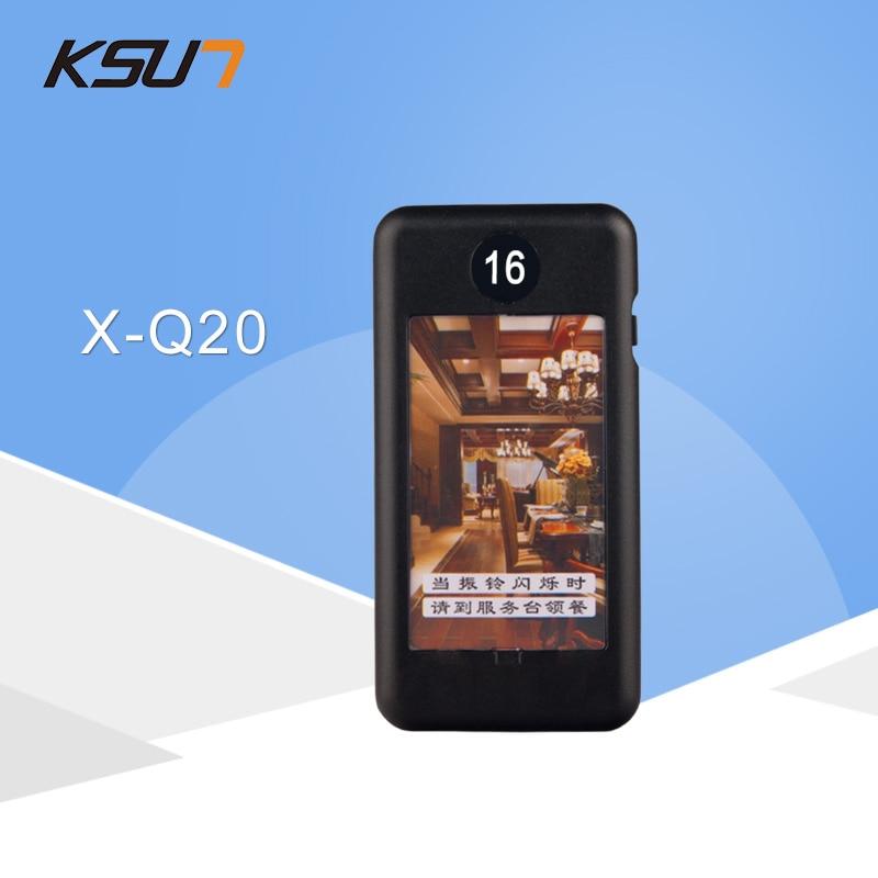 Localizador inalámbrico KSUN X-Q20 para llevar la tarjeta de comida, timbre vibrador para tomar comida, 433MHz, buscapersonas con tarjeta