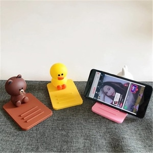Силиконовый Настольный держатель для мобильного телефона с мультяшными персонажами и куклой, подставка для iPhone, iPad, смартфона, настольного планшета, мини-кронштейн для ленивых