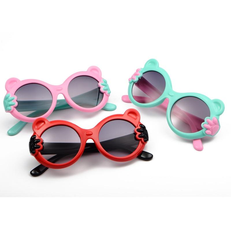 Cartoon Bear Small Hand Sunglasses Children Kids Sunglasses Baby Eyewear Oculos de sol Boy And Girl