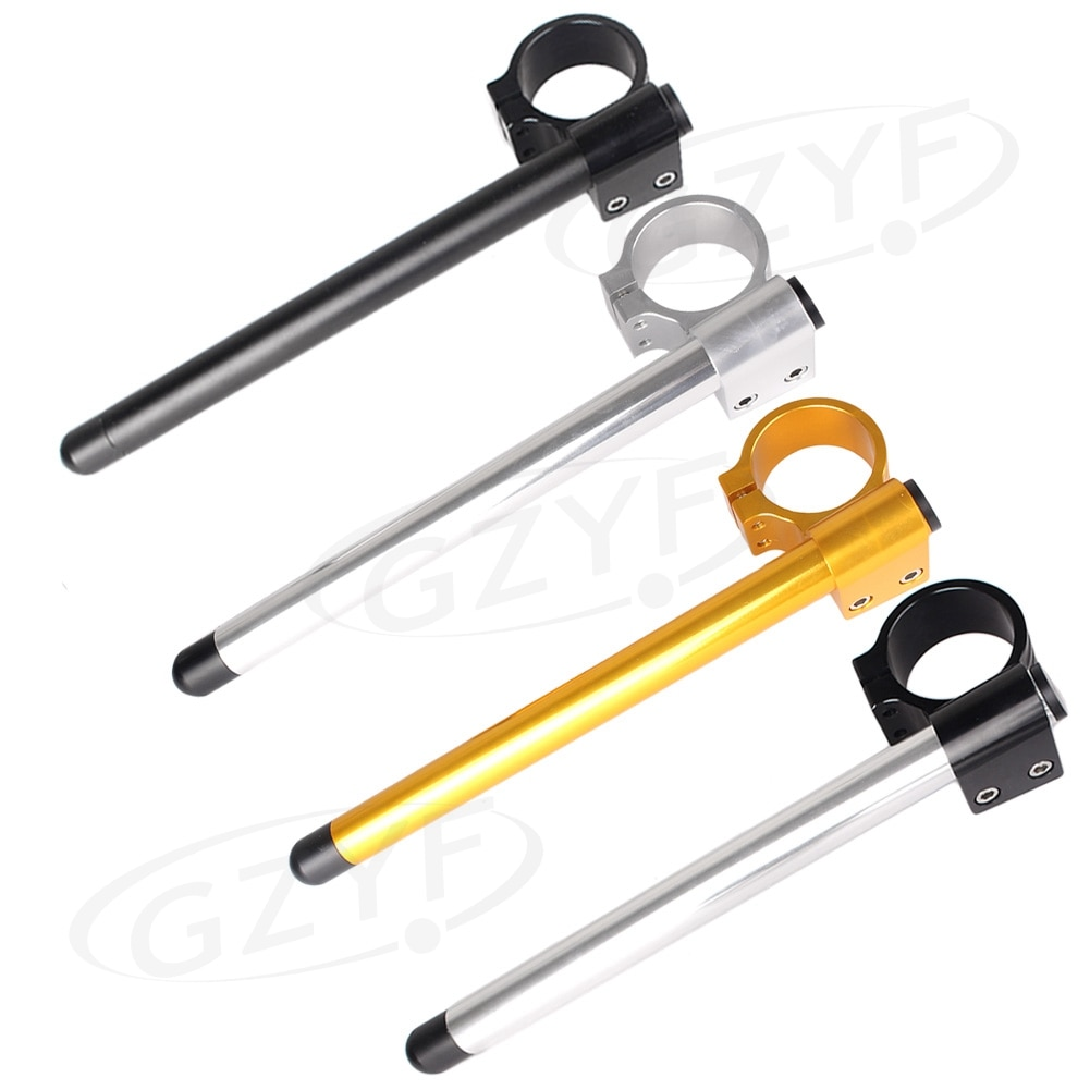 """Universal 51mm CNC motocicleta Riser Clip Ons Clip-on manillares 22MM 7/8 """"sujeción tubo manillar horquilla tubo aleación de aluminio"""