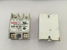 5 uds SSR60DA SSR-60DA fabricante 60A ssr relé de entrada 3-32VDC salida 24-380VAC