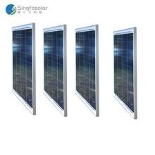 Fotovoltaic Panel 12v 50w 4 Pcs Energy Solar Panels 48v 200w Camping Charger Car Marine Mobile Cellphone Fan Caravan RV Light