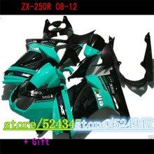 Kit Injection Negro verde Kawasaki Ninja 250R   kit 2008 2009 2010 2011 2012 2012 1ZX 250 EX250R 08 09 - 12 corps