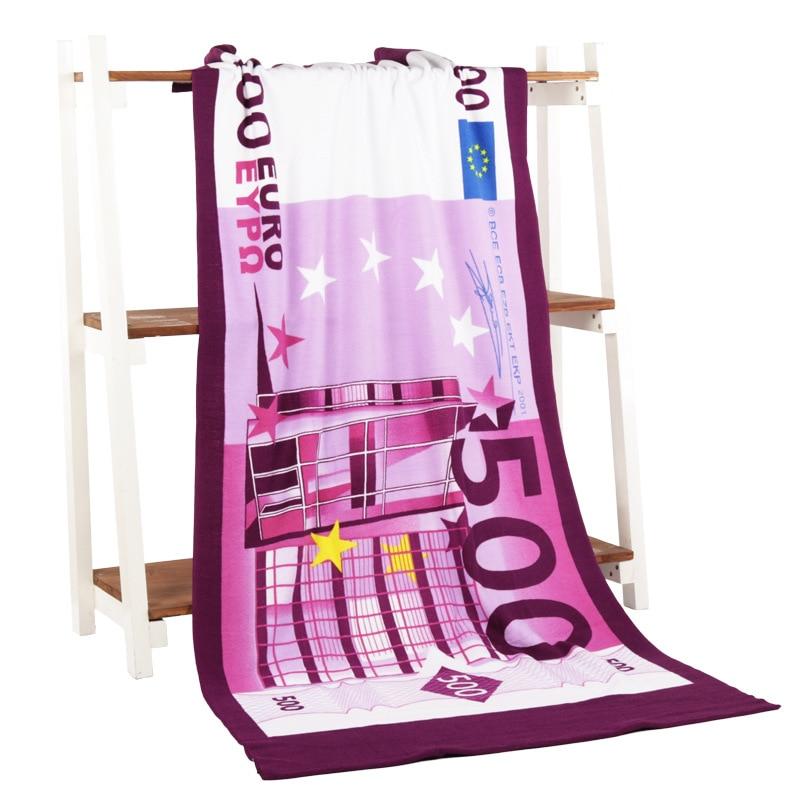 Toalla de baño de microfibra con estampado de un dólar de 70x140 cm, Toalla de baño con bandera de bain, paño de baño corporal de EE. UU. Para la ducha, envío gratis