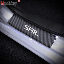 Voor Chevrolet SAIL 4D Carbon fiber vinyl sticker Auto Instaplijsten Scuff Plate Dorpels Voor Auto S Auto Onderdelen Auto accessoires 4 PCS