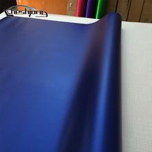 Крутая темно синяя матовая хромированная автомобильная пленка виниловая фольга пленка для автомобильной оболочки пинг матовая хромированная синяя виниловая 1,52*20 м