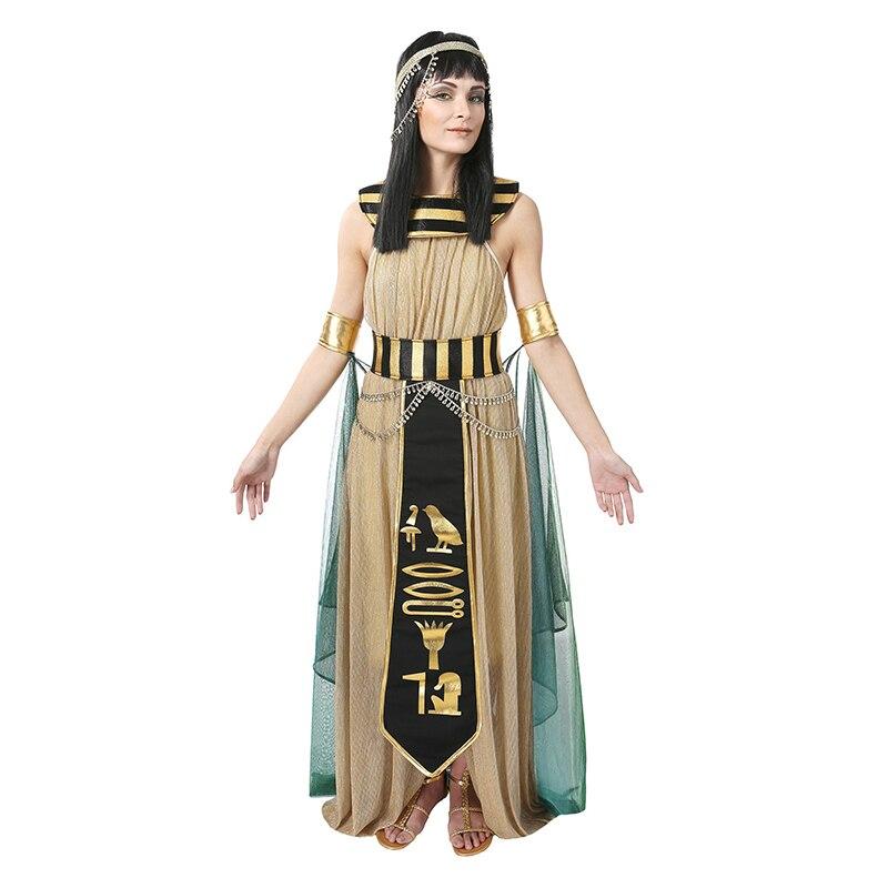 Incrível Sexy Rainha Egípcia Cleópatra Costume Mulheres Partido Desempenho Carnaval Fancy Dress Halloween Fancy Dress Outfit
