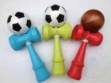 Twb التجزئة/الكثير dhl حجم: 18.5 سنتيمتر لعبة اليابانية التقليدية kendama الجزية كرة ملونة المهنية