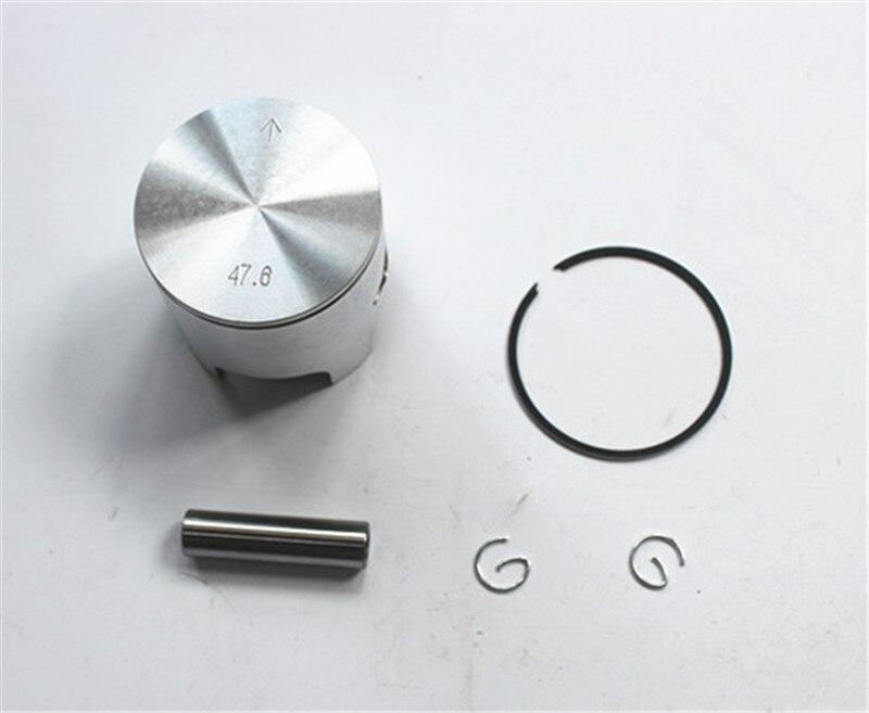 Набор пистонов 47,6 мм с штифтом для мотоцикла Yamaha jog 50 Jog50, диаметр цилиндра = 47,6 мм, Minarelli Jog цилиндрический диаметр = 47,6 мм Pin = 10 мм