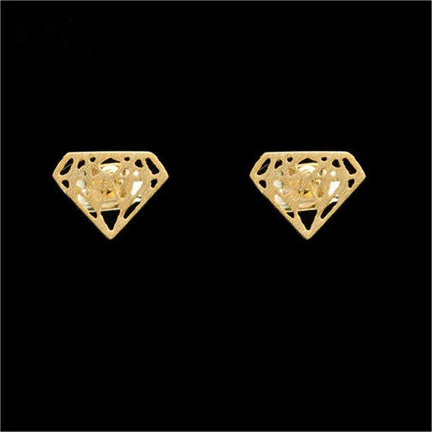 10 par/lote de joyería exquisita de moda geométrica para mujer, pendientes con forma de cono de Color rosa dorado, pendientes Vintage de acero inoxidable