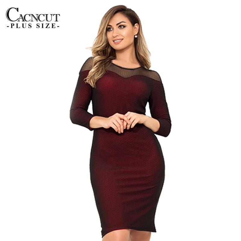 CACNCUT 2019 5XL Summer Plus Size Women Dress 6XL Big Bodycon Dresses Large Size Sexy Mesh Evening Party Club Vestidos Clothings