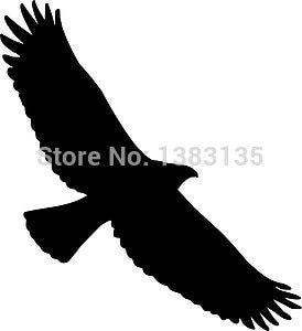 Divertida pegatina divertida gran oferta Tribal águila pájaro pegatina de halcón para ventana de camión parachoques Auto puerta para computador portátil, kayak aves Vin