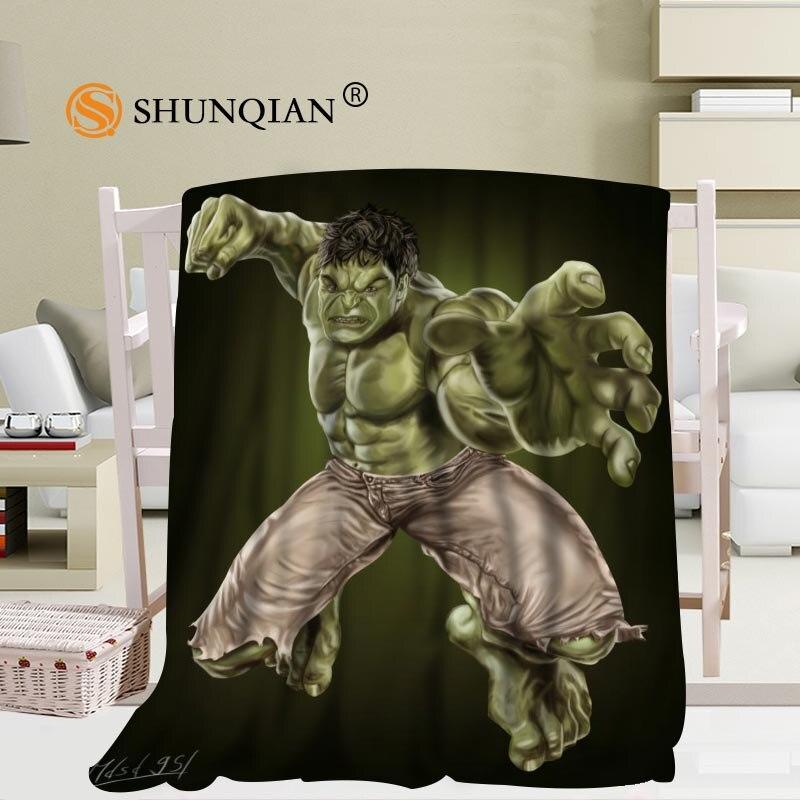 Cobertor feito sob encomenda do lance da cama do sofá da polegada 50x60 da tela 56x80 do falafel da flanela do hulk