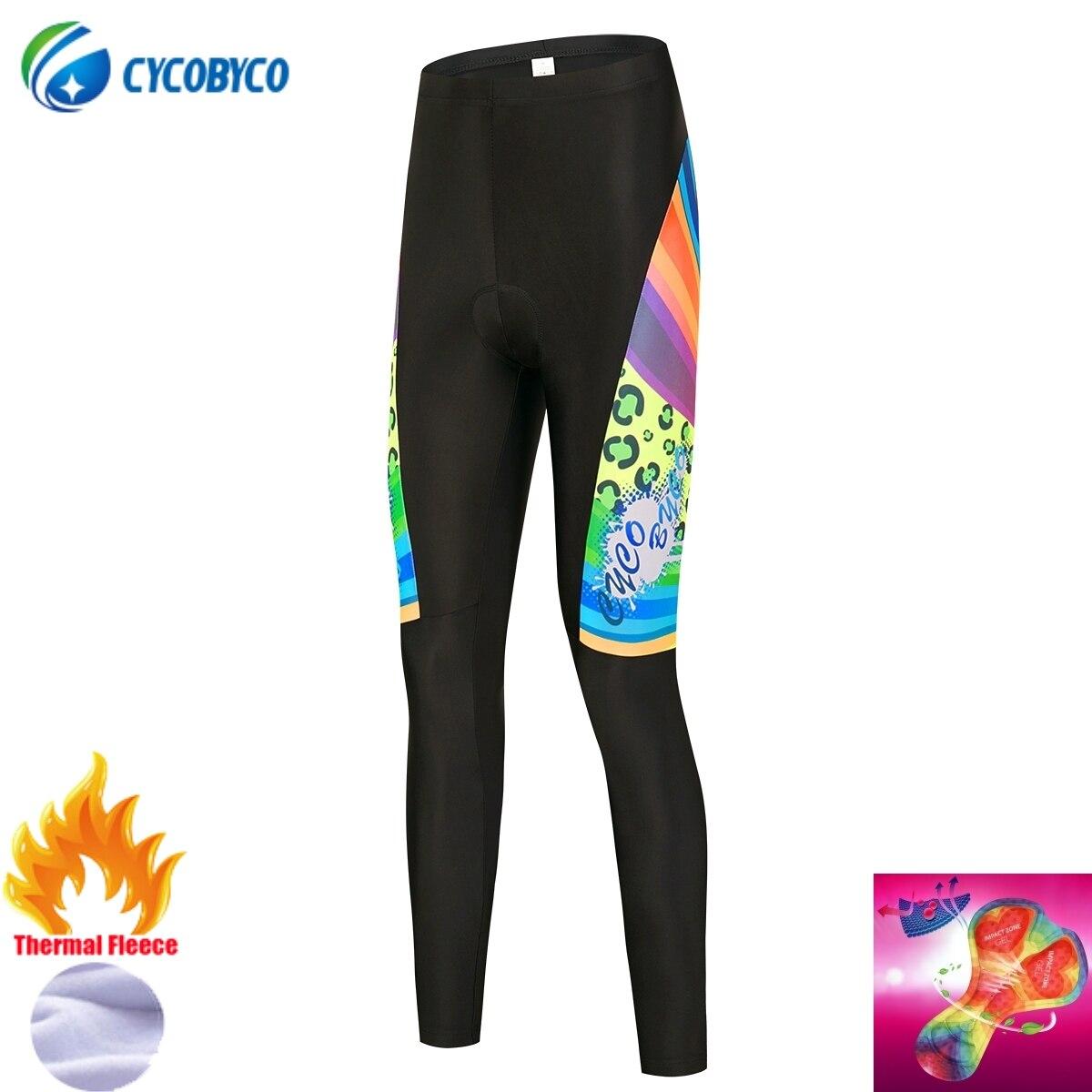 Cycobyco-Pantalones largos con almohadilla de Gel para mujer, medias acolchadas para Ciclismo...