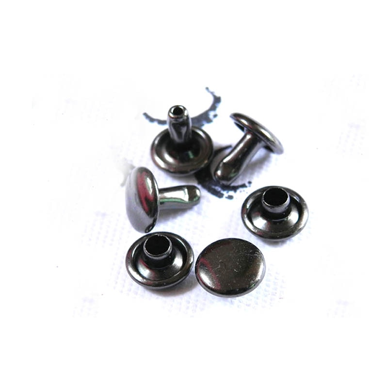 1000pcs/set Metal Double Cap Rivets Stud Rivets Collision Nail Metal Spike Leather Craft Repair 4 Colors