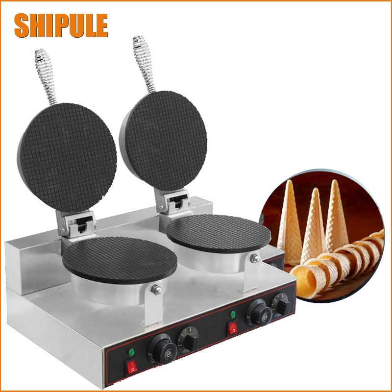 Electric Commercial Pancake making machine Ice Cream cone maker  waffle cone maker недорого
