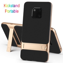Shockproof Silicone Covers for Huawei Mate 20 Pro 20Pro Lite Mobile Phone Back Cases Stand Holder Lu