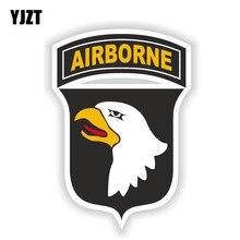 YJZT 10.7CM*15.3CM Army Military Insignia Car Sticker Airborne Decal Car Accessories 6-1529
