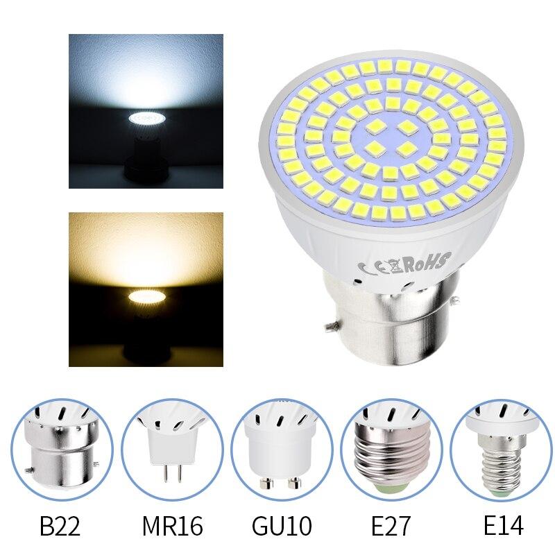 Gu10 led spotlight bulbo milho lâmpada mr16 lampada lâmpada led 220 v gu5.3 luz de ponto e27 bombillas led e14 ampola b22 lâmpada led 2835smd