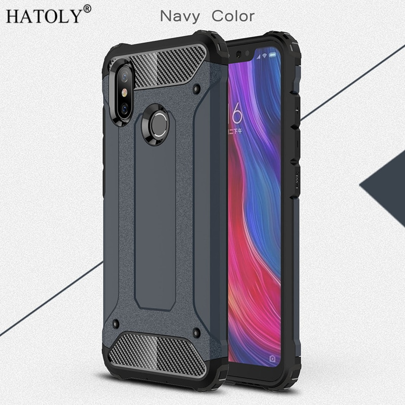 For Cover Xiaomi Mi 8 Case Silicone Rubber Armor Shell Protective Hard PC Back Phone Cover For Xiaom