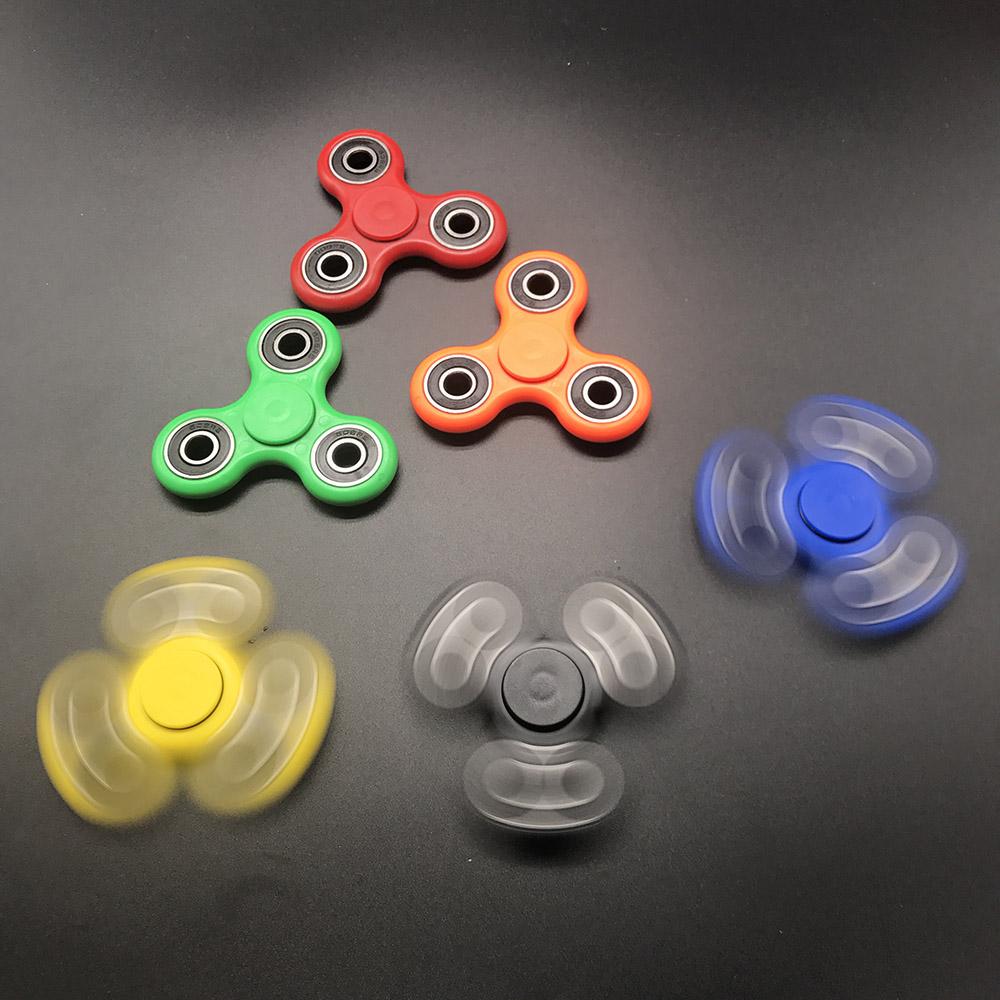 7 Kolory Koraliki Ceramiczne EDC Tri-Spinner Z Tworzywa Sztucznego Ręcznie Fidget Spinner Spinner Dla Autyzmu i ADHD Długi Czas Anty stres Zabawki 10