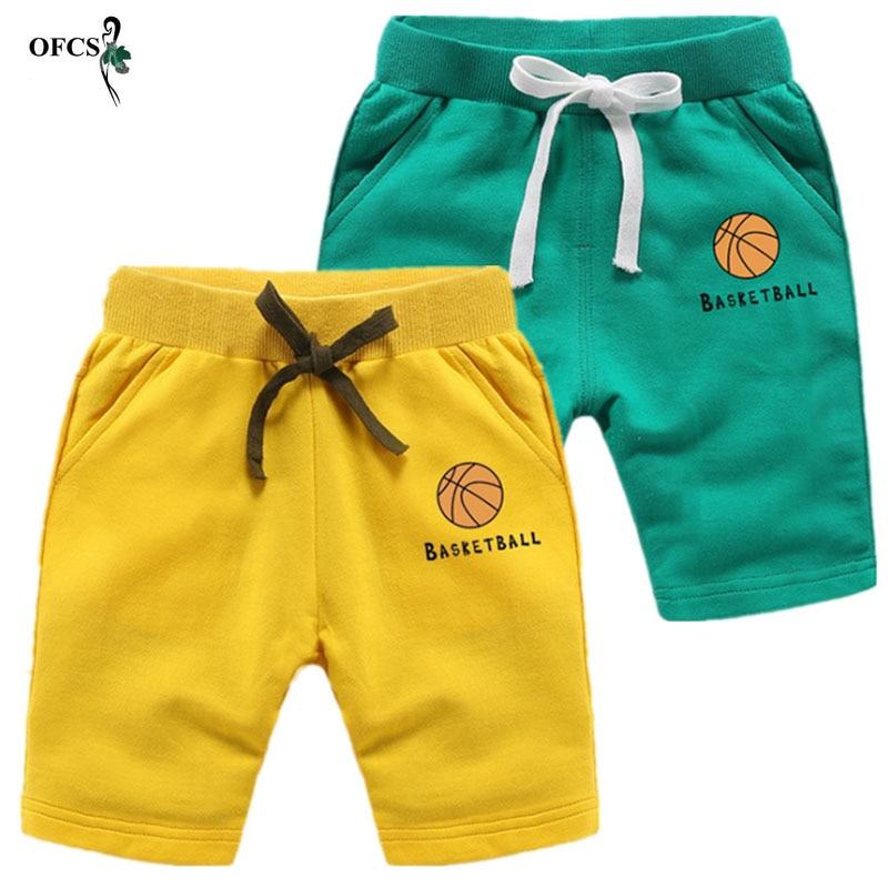 Pantalones cortos OFCS para niños, pantalones cortos para niños y niñas, pantalones cortos de algodón para deportes niños, pantalones cortos de playa para niños, pantalones cortos de movimiento 2-12