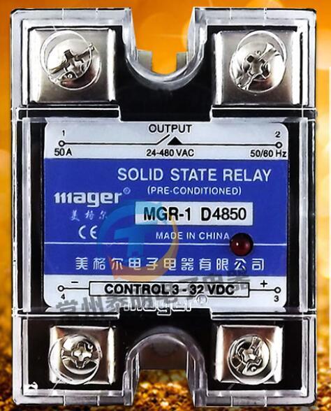 Mager véritable nouveau relais à semi-conducteurs monophasé original 50A contrôle cc cc ca 220V MGR - 1 D4850 24-480VAC 3-30VDC