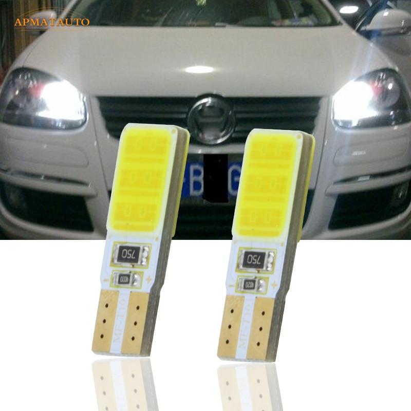 2x T10 W5W CANBUS светодиодные боковые парковочные огни, габаритные огни, лампы для VW Passat B5 B6 CC Touran Tiguan Scirocco Golf GTI Sagitar