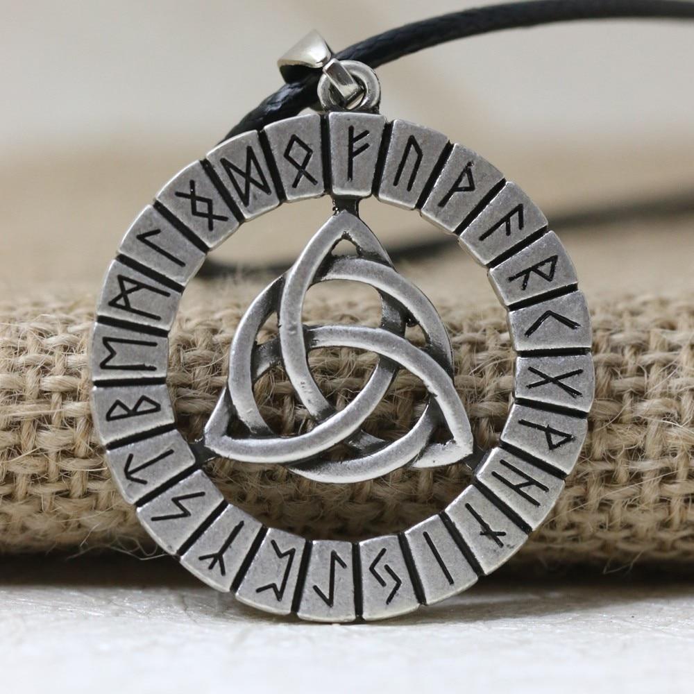 LANGHONG 1 Uds. Vikingos nórdicos amuleto de runas colgante collar vikingo nudo Original amuleto colgante collar talismán