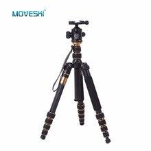 Moveski Q666C Profi Compact Carbon Stativ einbeinstativ mit Kugelkopf Quick Release Tragbare Reisen Stativ für DSLR Kamera