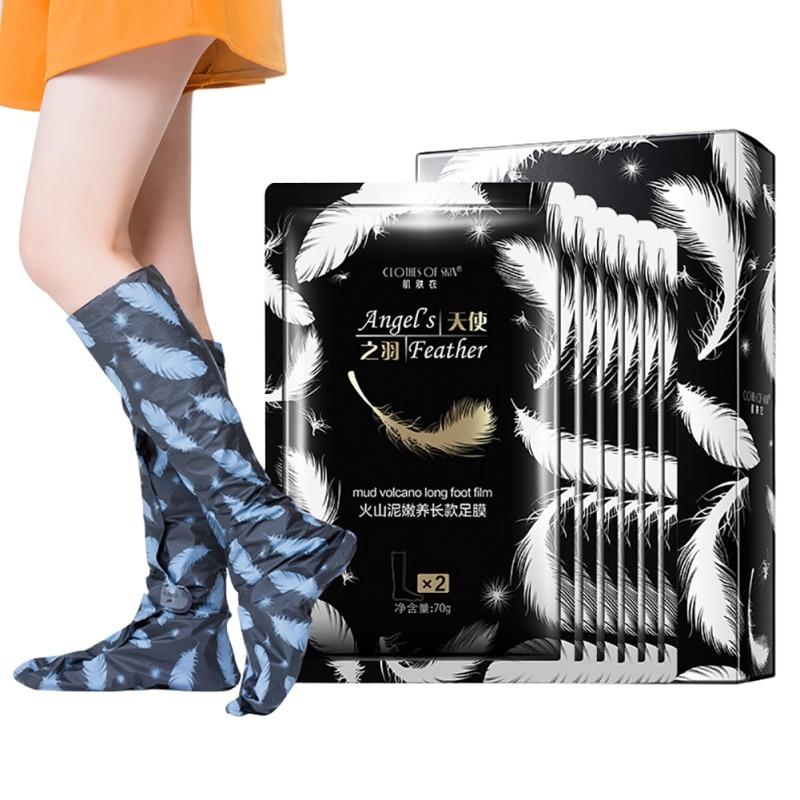 New Volcanic mud Extract Tender Foot Membrane Foot Dead Skin Mask Peeling Skin Feet Spa Detox Foot Patch Skin Care Cream