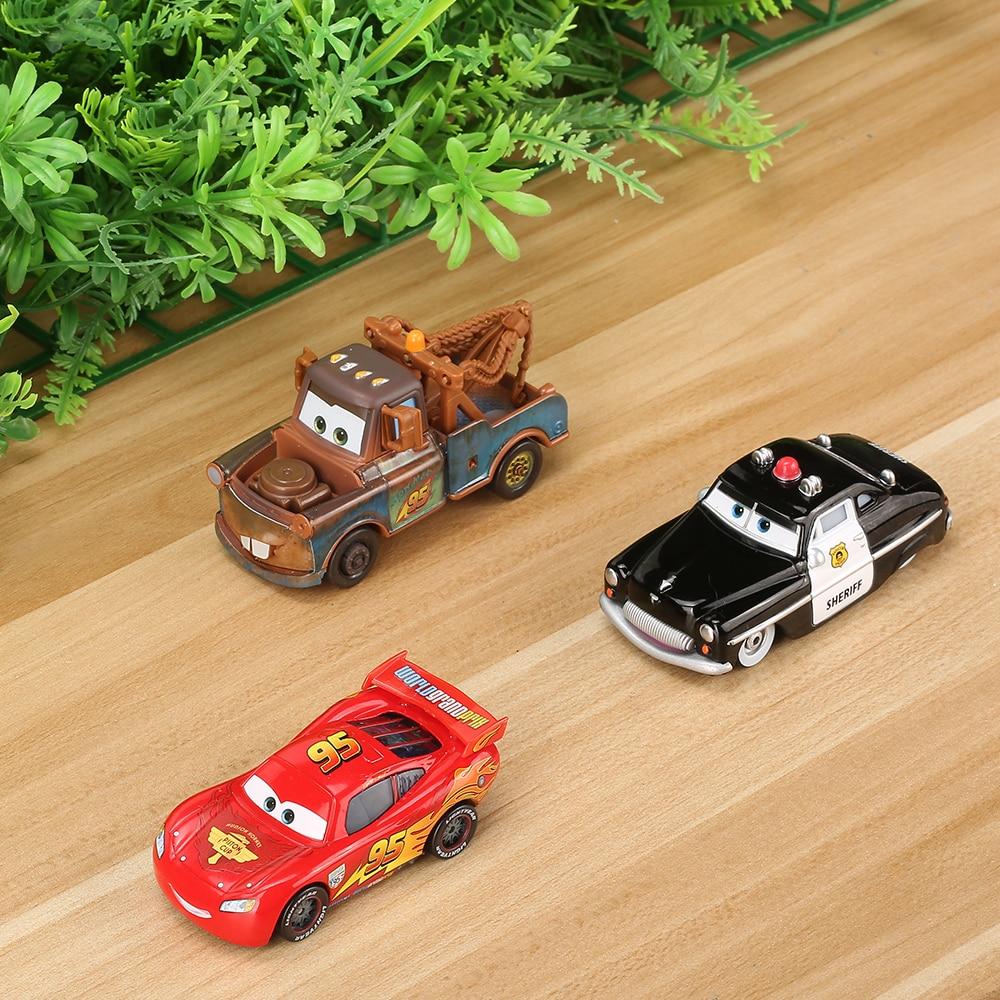 Disney Pixar Cars 2 3 Lightning McQueen Mater 1:55 Diecast Metal Figure Model Jackson Storm Educational Toys For Children Boys