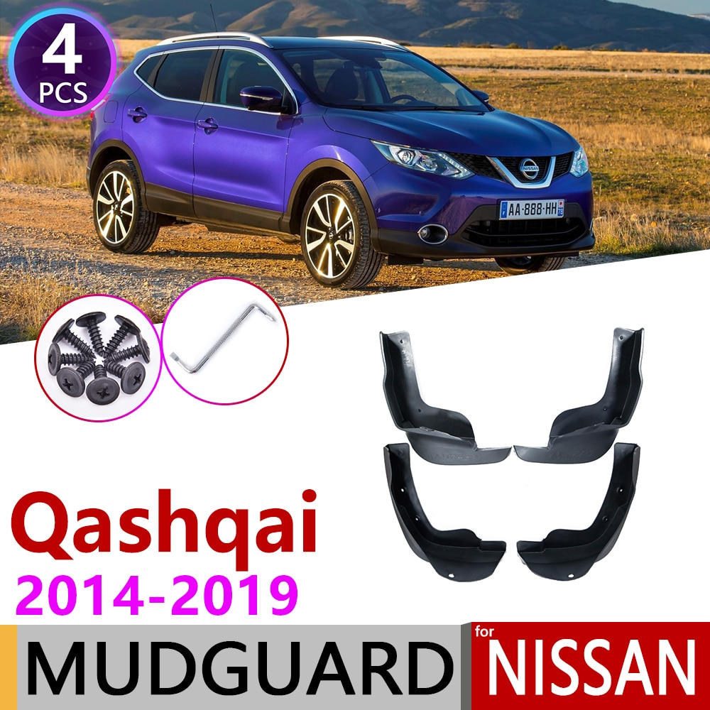 Car Mudflap for Nissan Qashqai J11 2014 2015 2016 2017 2018 2019 Fender Mud Flaps Guard Mudguard Splash Flap Accessories 2th 2