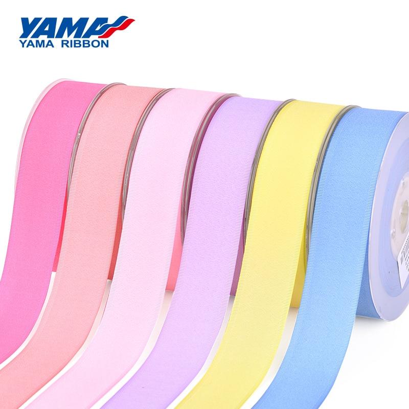 YAMA Polyester Grosgrain Edge Granulated Ribbon 9 16 19 25 38 mm and 3/8 5/8 3/4 1 1-1/2 inch 100Yards Printed Ribbons Bows