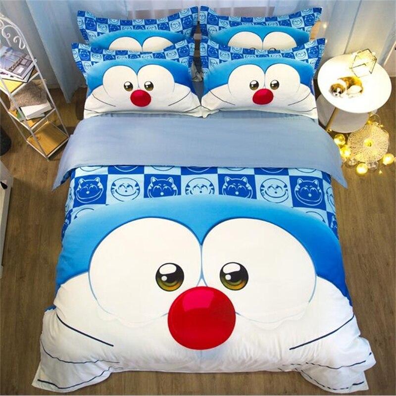 Kids Duvet Cover Cartoon Doraemon Tototro Cat Dog Bedding Twin Full Queen King Single Double Size