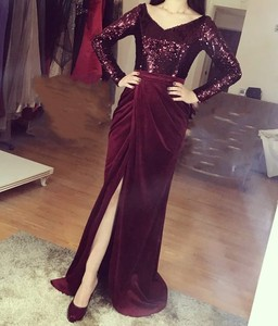 Evening Prom Celebrity Dresses 2020 Woman's Party Night Cocktail Long Mermaid Dresses Plus Size Dubai Arabic Formal Dress