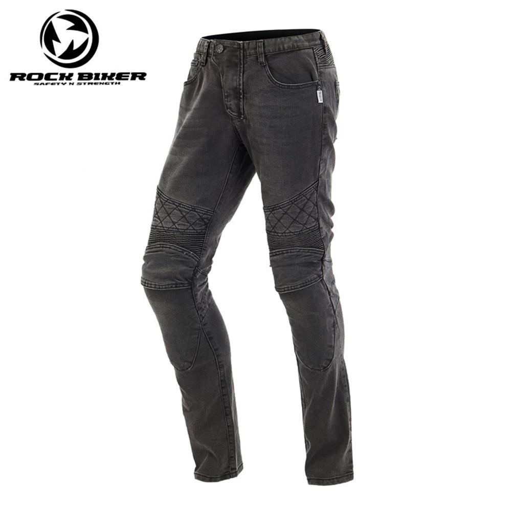 Rock Biker motocicleta Jeans engranajes de protección motocicleta pantalones de carreras 81648 Jeans a prueba de viento Skinny Moto con protectores CE