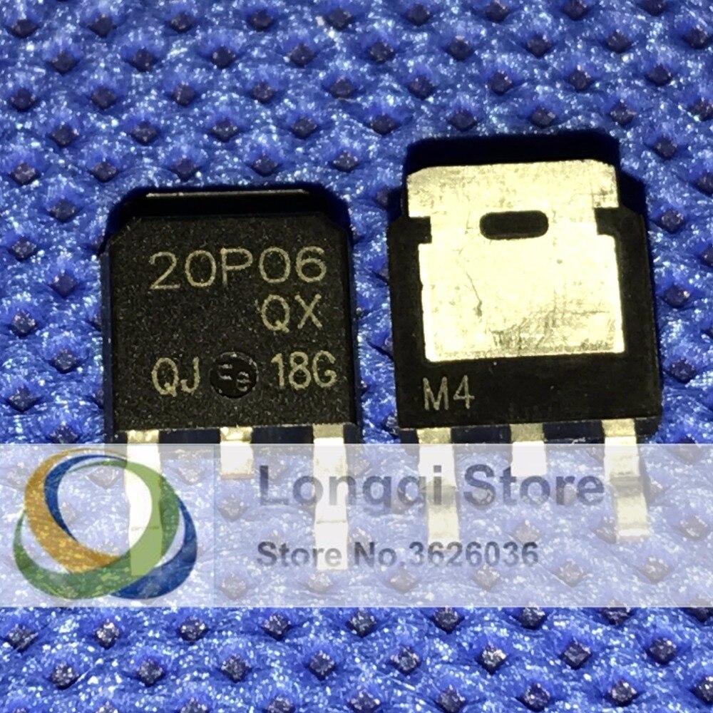 10 PCS P Channel Enhancement Modo MOSFET PNP TO-252 20P06 20A 60 V