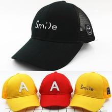 Adjustable Smile Mesh Children Hat Baby Summer Cap Infants Snapback Hats Hip Hop Cap Baseball Cap For Boy Girl