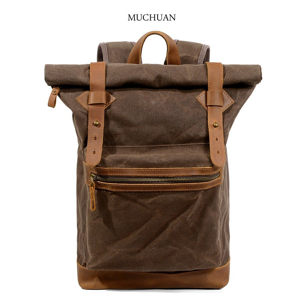 Muchun-حقيبة ظهر قماشية مقاومة للماء ، للرجال والنساء ، حقيبة سفر للتنزه في الهواء الطلق