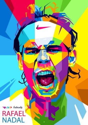 0632B David Nadal - Top jugador de tenis deportes-pegatina de pared de seda cartel de lona ligera Decoración