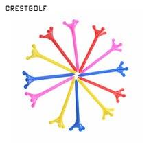 CRESTGOLF 50 قطعة/حزم حجم 83 مللي متر البلاستيك جولف تيز ثلاثة مخالب جولف تيز إكسسوارات الغولف متعدد الألوان