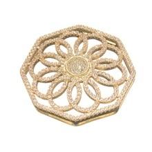 Résultats dembellissements filigrane enveloppe les connecteurs de fleurs pour la fabrication de bijoux Micro Pave CZ grand pendentif pour bijoux en perles